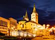 Zilina - Trinity Cathedral, Slovakia atž night