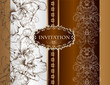 Wedding invitation card in royal style