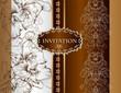 Wedding invitation card in royal style