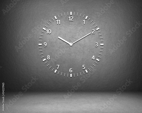 Clock on the wall in the room