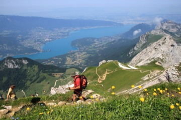 Le Lac d'Annecy depuis la Tournette