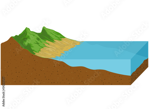 The sea retreating tide drops geological nature background - 54222527