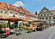 Leinwanddruck Bild - Marktplatz in Weimar