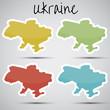 stickers in form of Ukraine