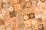 medieval painted floor tiles dating from the 13th century