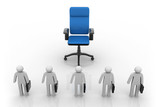 business people  with a big empty chair