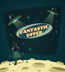 Fantastic offer. Cosmic space background