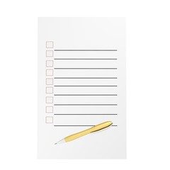 To do list blank isolated