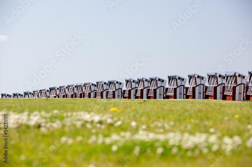 canvas print picture Strandkörbe auf Norderney, Deutschland