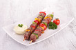 roasted meat kebab