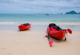 canoes or kayak on the beach of sea Thailand