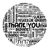THANK YOU Tag Cloud (thanks gratitude appreciation message card)