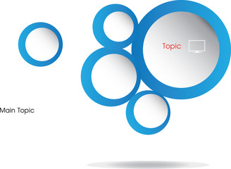 Circle Template graphic for presentation