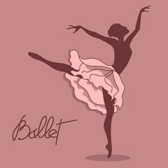 Illustration of ballet dancer