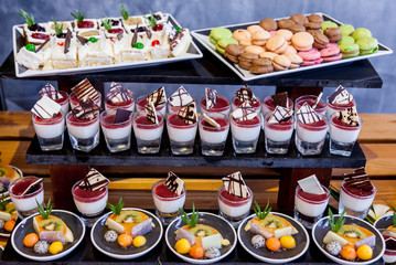 Various dessert buffet for celebrate.