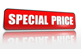special price in red banner