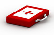 First aid kit on a white background
