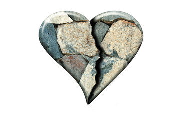 Cracked stone heart