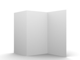 Empty flyer mockup display