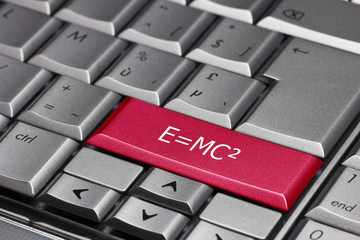 Relativity formula on a keyboard key