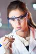 Portrait of a chemist.
