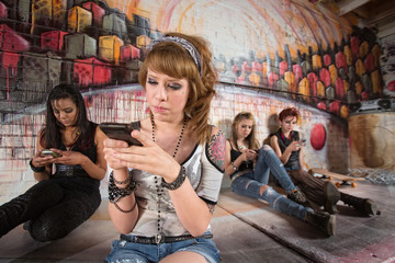 Serious Teen on Phone