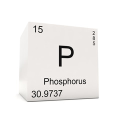 Cube of Phosphorus - element of the periodic table