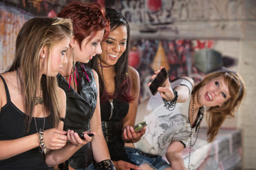 Teen Showing Her Phone
