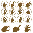Vector set of hand icons
