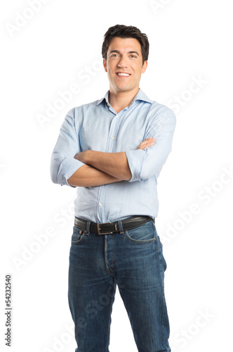 Happy Young Man Standing