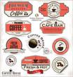 Set of Retro Vintage coffee labels