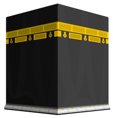 Illustration of Holy Kaaba in Mecca Saudi Arabia