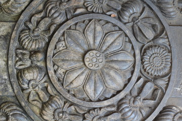 Stone carving in temple