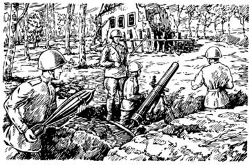 Soviet firing position