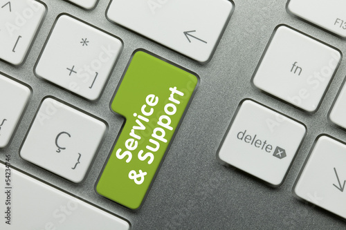 Service & Support Keyboard key