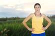 Healthy female Runner at Sunrise