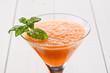 Mousse di melone e menta, close-up