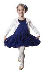 Little dancing Princess wearing Tiara