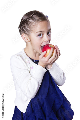 Little girl eating healthy