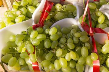 Grappoli di uva bianca