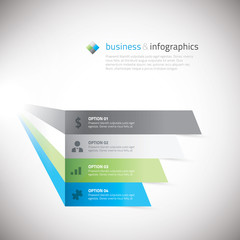 Fresh infographic boxes with icons vector illustration