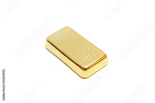 gold bar in white background