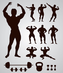 Body building Gym. Vector