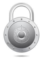 padlock vector icon round