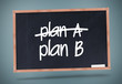 Plan A and Plan B written on a blackboard