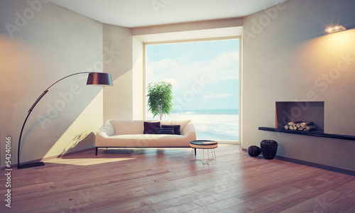 modern interior with window (cg concept)