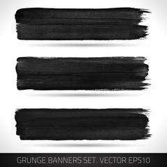 Set of vector grunge banners