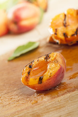 Grilled apricot with honey