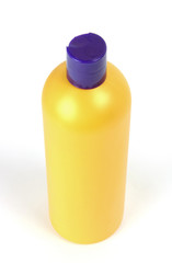 Shampoo bottle isolated in white