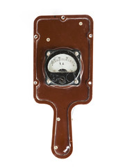 analog ammeter isolated on white background